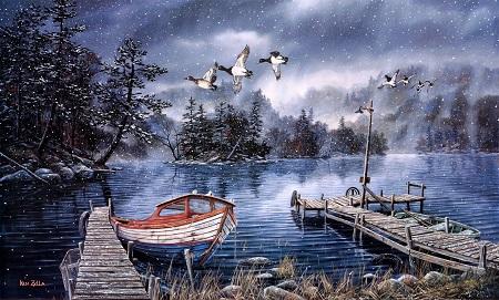 סירה על אגם סירה על אגם