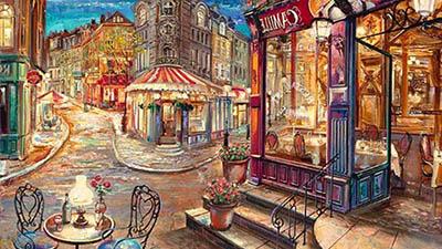 בית קפהבית קפה  life_street_cafe_art_city_cool_paintings