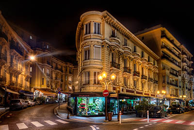 מונקו - monaco מונקו - monaco-cities-flower-shop-night-city-street-europe-charming