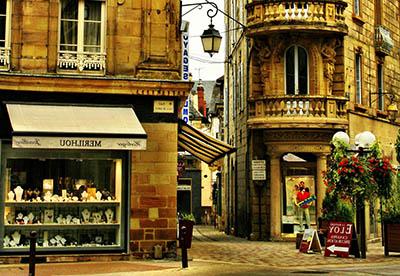 Street in Brive la Gaillarde - FranceStreet in Brive la Gaillarde - France