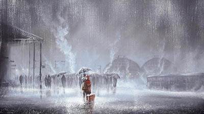 תחנת רכבתjeff_rowland_painting_red_train_station