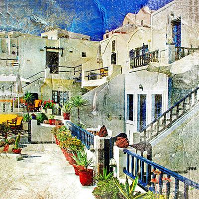 יוון  רחוב בכפר greece village streetsיוון  רחוב בכפר greece village streets