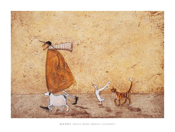 ארנסט, דוריס, הוראס, וסטרייפסאיש, כלבה, כלב, חתול, חתולה, אווז, ברווז, הולכים, נאיבי, סאם טופט