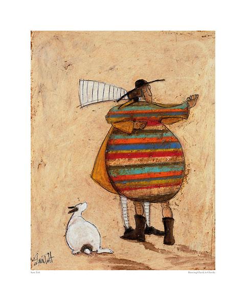 רוקדים לחי ללחיזוג, ריקוד, כלב, נאיבי, פסים, סאם טופט, טופט, ציור,