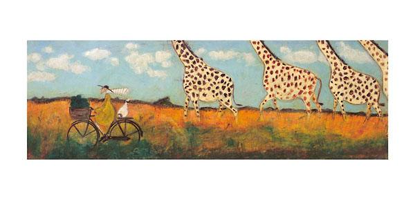 החרדל והג'ירפותשדה, ג'ירפות, אופניים, רוכב, נוף, נאיבי, סאם טופט, שמים, עננים,