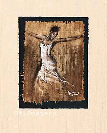 אישה בתנועהמחול אתני מודרני חום לבן מתיחה סחרור לרקוד
