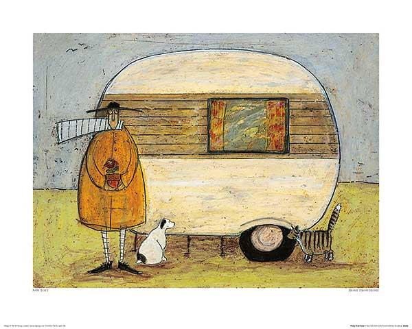 בית מהביתכלב, חתול, איש, דמות , נאיבי, טופט, ציור, איור, חמוד, מכונית, אוטו, מיניבוס, קארוון, צבעוני