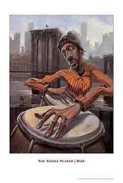 נגן הקונגהמוסיקה ג'ז גז גאז להקה נגנים שחור לבן הופעה אתני