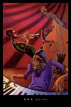 שלישיית ג'אזמוסיקה קלאסי קלסי טריו  ג'ז גז גאז להקה נגנים שחור לבן זמרת הופעה אתני חצוצרה קונטרבס פסנתר