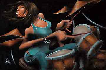קצב המתופפתמוסיקה גריבלדי ג'ז גז גאז שחור לבן הופעה אתני תיפוף תוף בלוז