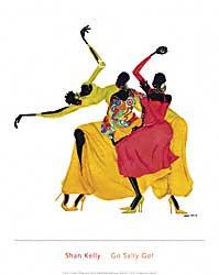 שאן קלי - קדימה סאלימודרני אתני קומי נאיבי בנות צבעוני אדום ושחור
