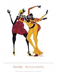 שאן קלי - אמהות אוהבות ממבומודרני אתני קומי נאיבי בנות צבעוני אדום ושחור