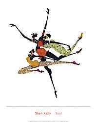 שאן קלי - ריחוףמודרני אתני קומי נאיבי בנות צבעוני אדום ושחור