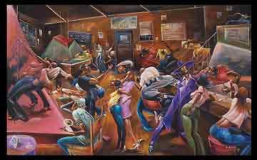 Lenny's Loungeמוסיקה נגנים גאז ג'ז שירה זמר מיקרופון רדיו די גיי מסיבה חברים