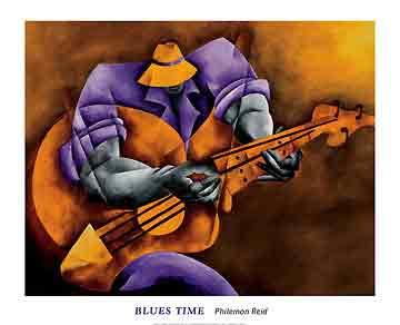 זמן בלוזמוסיקה  אתני דמויות גאז ג'ז מנגן גיטרה