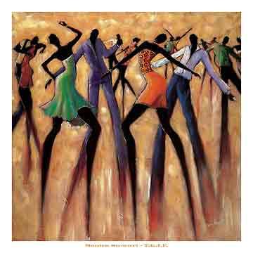 ריקוד חופשימוסיקה ריקוד מחול אתני דמויות גאז ג'ז מסיבה חברים