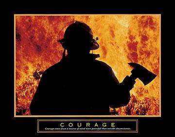 אומץ-כבאי אחדאש להבות מוטיבציה שריפה