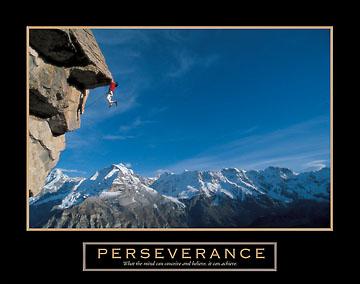 התמדה- טיפוס צוקיםתלוי מצוק הר ספורט אתגרי מוטיבציה