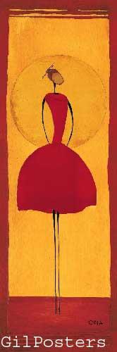 בשמלה אדומהאתני כתום אונה רקדנית אדום חום שמלה