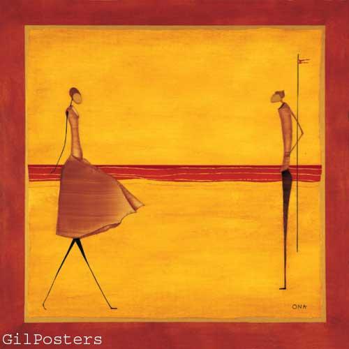 בחוף היםאתני כתום אונה רקדנית אדום חום  שמלה