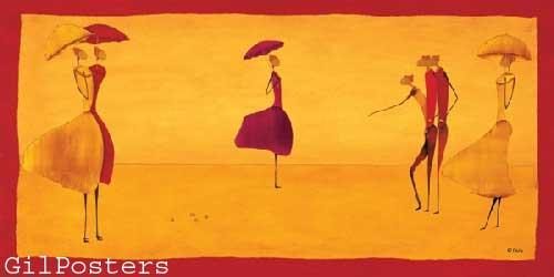 IG-1198-AAאדום כתום חם דקורטיבי נשים דמויות