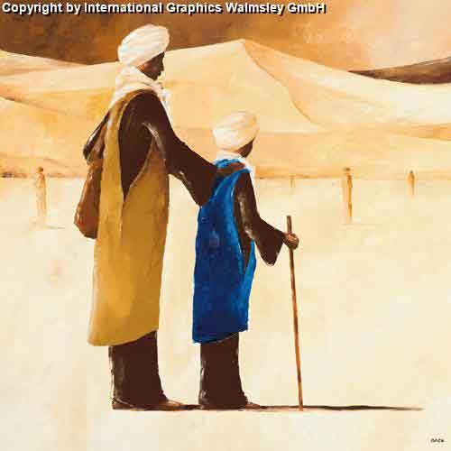 ביחדעיצוב דקורציה ירוק חום חם אפריקאי אפריקני דמויות בנות