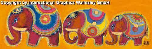 משפחת פילים 2עיצוב דקורציה ירוק חום חם אפריקאי אפריקני ילדים