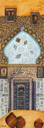 שער אורינטליעיצוב דקורטיבי מזרחי מרוקו דלת פתח