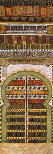 שער אורינטלי 2עיצוב דקורטיבי מזרחי מרוקו דלת פתח