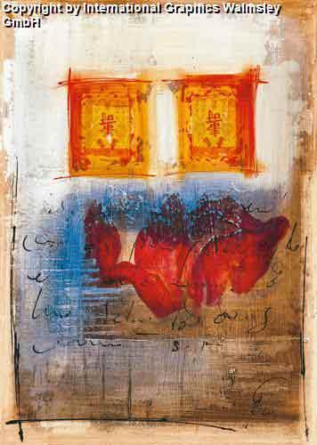 שושן אבסטרקט 2עיצוב דקורטיבי פינת אוכל סלון פרח אדום שושן צילום עדין שושנים דקורציה