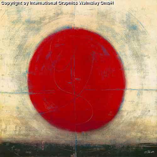 ריקוד המעגלעיצוב דקורטיבי פינת אוכל אדום מודרני גיאומטריה עיגול