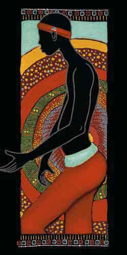 גבראתני כושי  עיצוב דקורציה איש בטן מזרחי שחור
