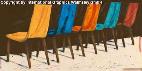 כסאות צבעונייםחמישה צבעים עיצוב דקורציה פינת אוכל שולחן