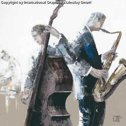 מנגנים ג'אזשחור לבן אפור מוסיקה להקה הופעה אבסטרקט דמויות