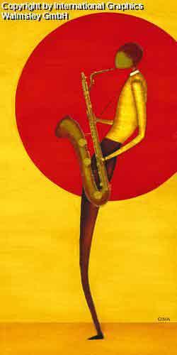 מנגן ג'אז 2אדום כתום אתני אונה חם הופעה דמויות דמות  קלאסי קלסית חצוצרה