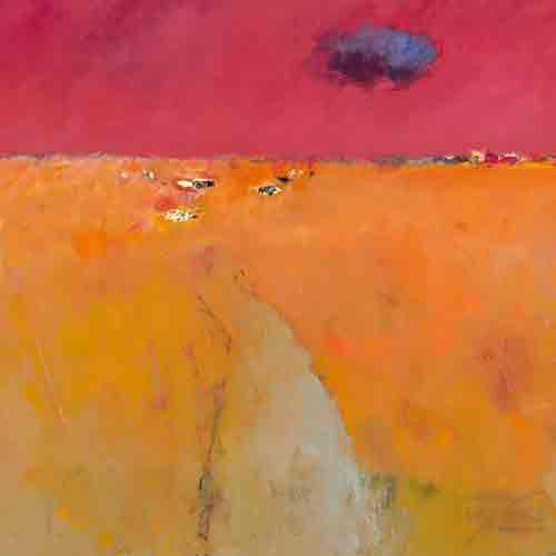 נוף בכתום ואדום אבסטרקט שמים אדומים בורדו שדה ענן