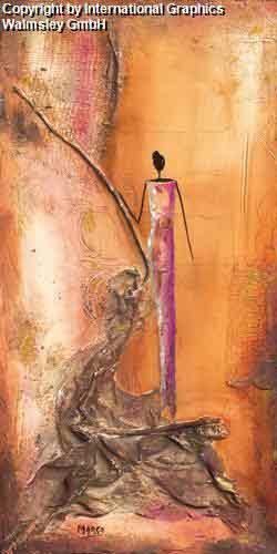 אישהמזרחי אורינטלי חם נאיבי חום כתום דקורטיבי מעוצב עיצוב דמות דמויות