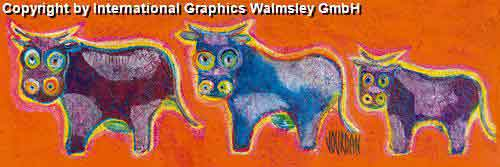 מו מו הפרהבעלי חיים אורינטלי מזרחי ציור קבוצה צבעוני