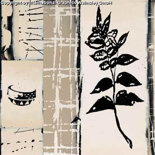 ענףשחור לבן אלגנטי דקורטיבי מעוצב עיצוב אבסטרקט אגרטל ואזה