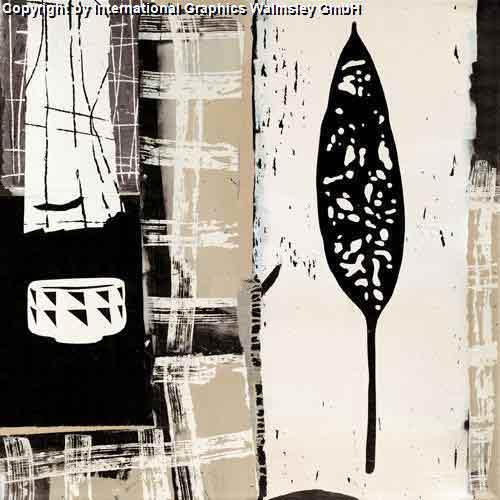 עלהשחור לבן אלגנטי דקורטיבי מעוצב עיצוב אבסטרקט אגרטל ואזה