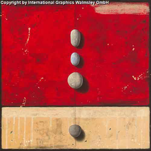 ריקוד אבנים על אדוםעיצוב דקורטיבי  פינת אוכל סלון אדום קרם מזרח  דקורציה אפור