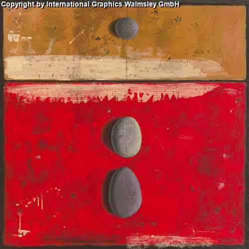 אבנים על אדוםעיצוב דקורטיבי  פינת אוכל סלון אדום קרם מזרח  דקורציה אפור