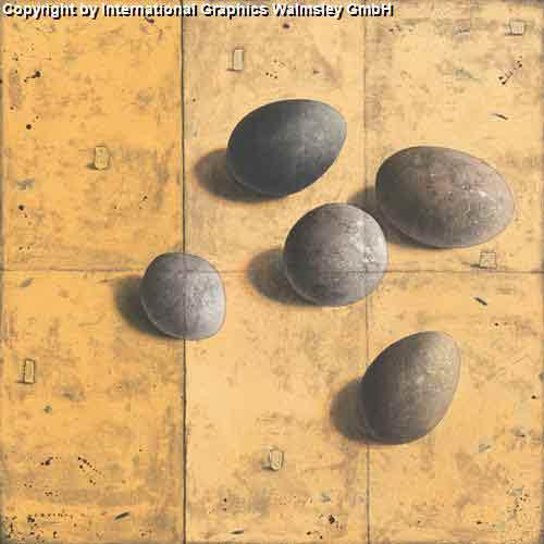 חמש אבנים עיצוב דקורטיבי  פינת אוכל סלון קרם מזרח  דקורציה אפור