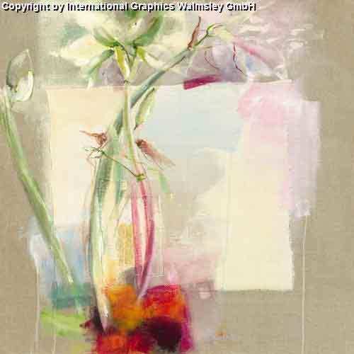 פרח לבן אגרטל ואזה דומם קישוט עיצוב פינת אוכל אוירה