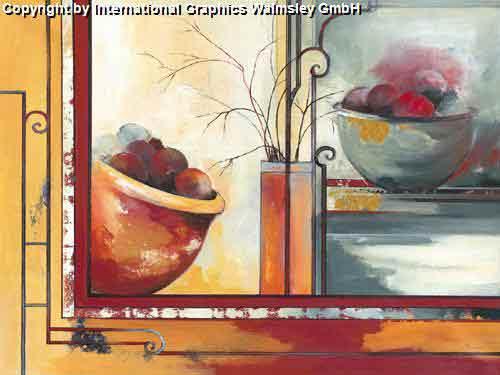 פירותפרח קערה אדום אגרטל ואזה דומם קישוט עיצוב פינת אוכל אוירה