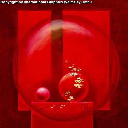 אדום עדין 2אורינטלי מזרחי ציור ואזה פרחים עיצוב אגרטל כד