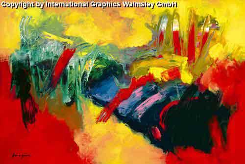 צבעים עזיםכתי צבע מריחת צבע ציור מופשט אדום צהוב