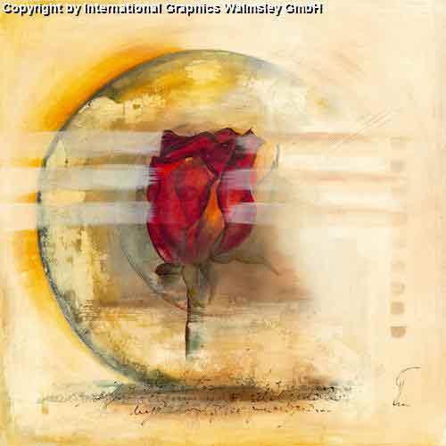 אבסטרקט מודרני עדין פינת אוכל אגרטל פרח רומנטי שושנה עיצוב מעוצב