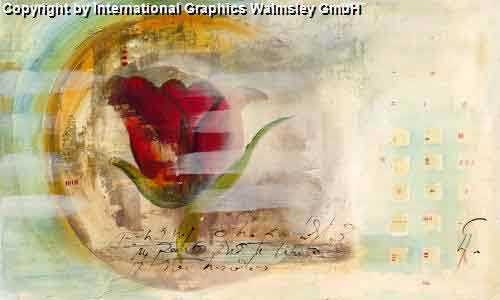 חופש אבסטרקט מודרני עדין פינת אוכל אגרטל פרח רומנטי שושנה עיצוב מעוצב