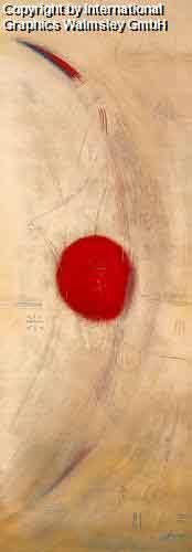 מסלול 3עיצוב דקורטיבי  פינת אוכל סלון קרם מזרח עיגול אדום אליפסה תנועה  דקורציה אפור קווים ארכיטקט גיאומטריה